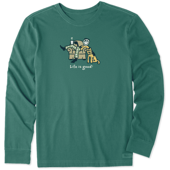 Men's Lounge Jake Long Sleeve Vintage Crusher Tee