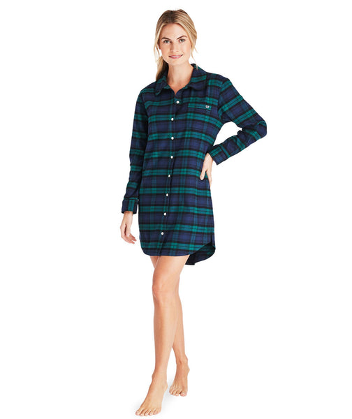 Blackwatch Flannel Shirtdress