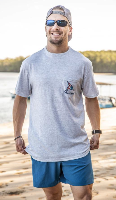 Patriotic Fin Short Sleeve Tee