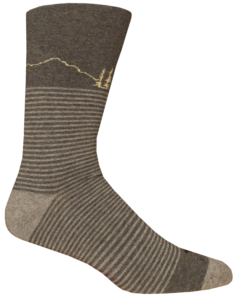 SODA BUTTE DARK GREY HTHR SOCK