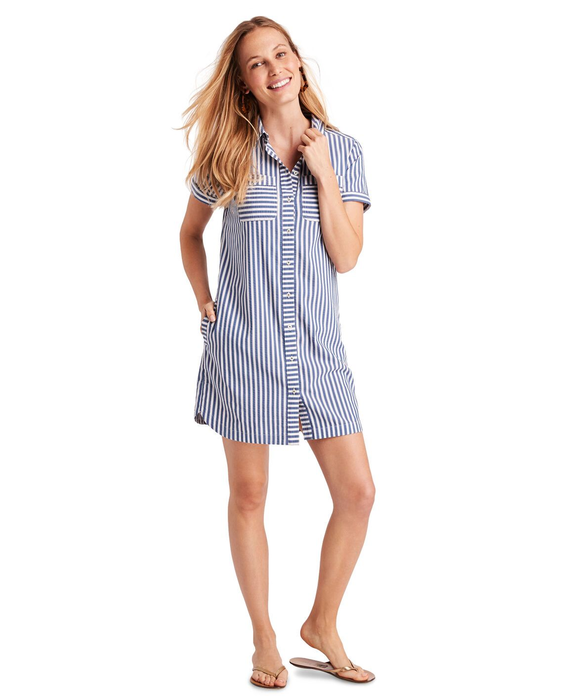 Seersucker Margo Shirt Dress