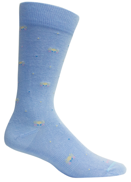 RODANTHE DELLA BLUE SOCKS - BROWN DOG HOSIERY