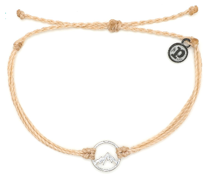 SILVER ASPEN-  CREAM BRACELET WITH SILVER CHARM