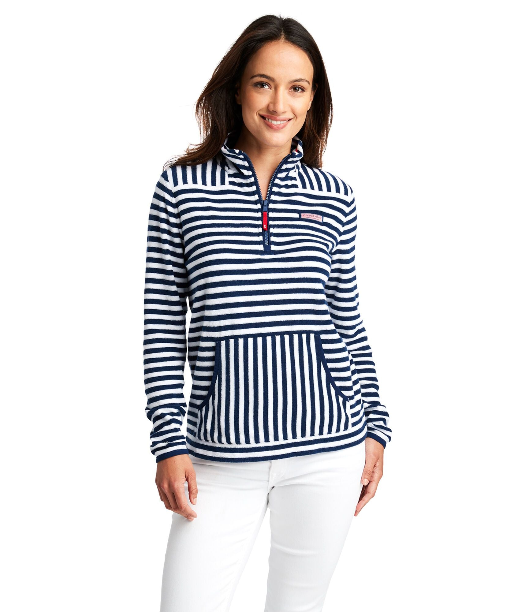Striped Terry Towel Relax Shep Shirt