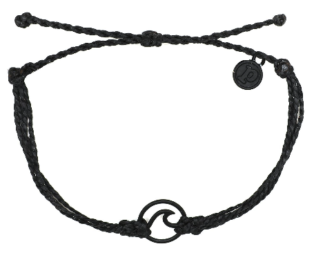 WAVE BLACK - BLACK BRACELET WITH BLACK WAVE CHARM