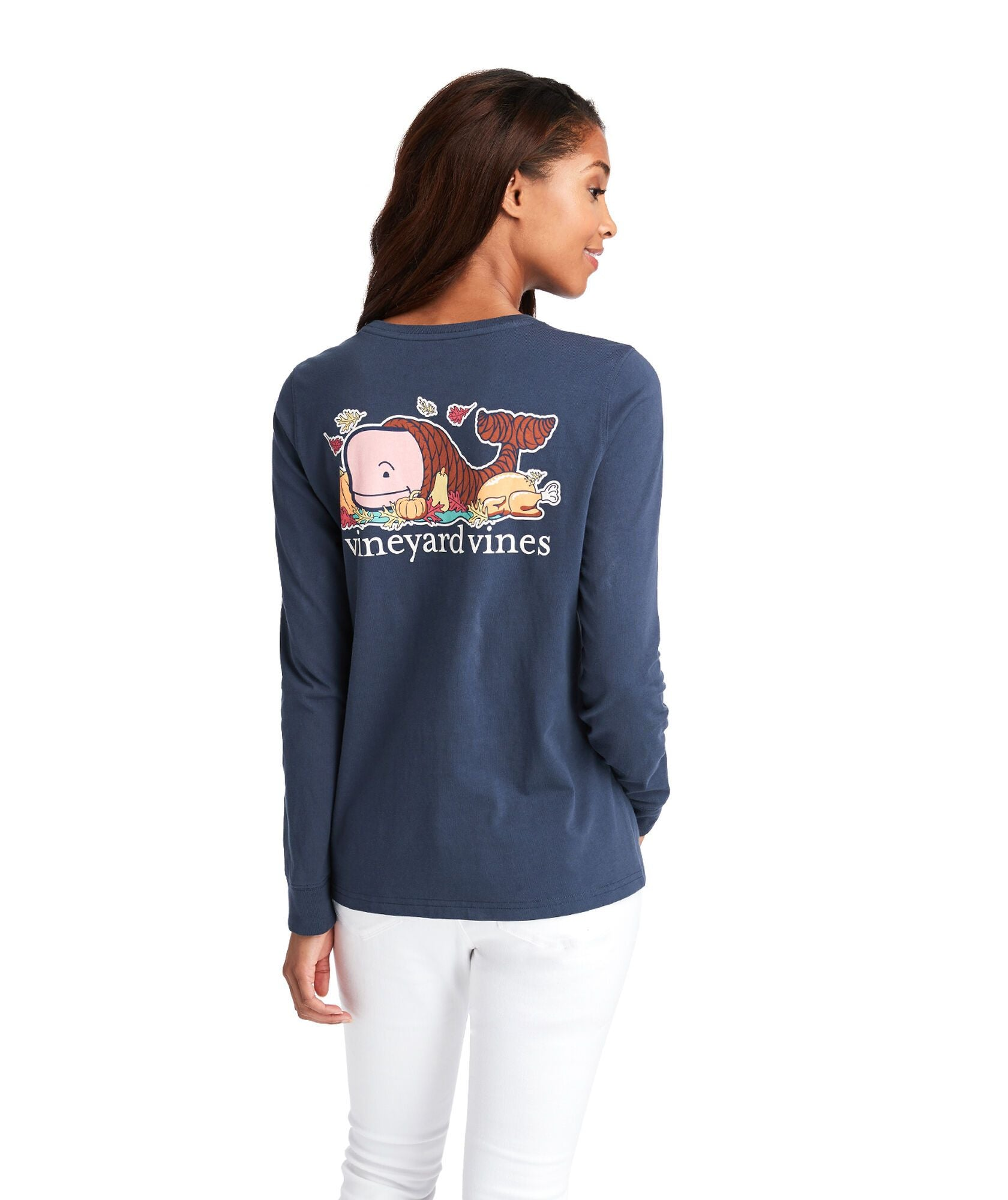 Thanksgiving Whale Pocket Tee