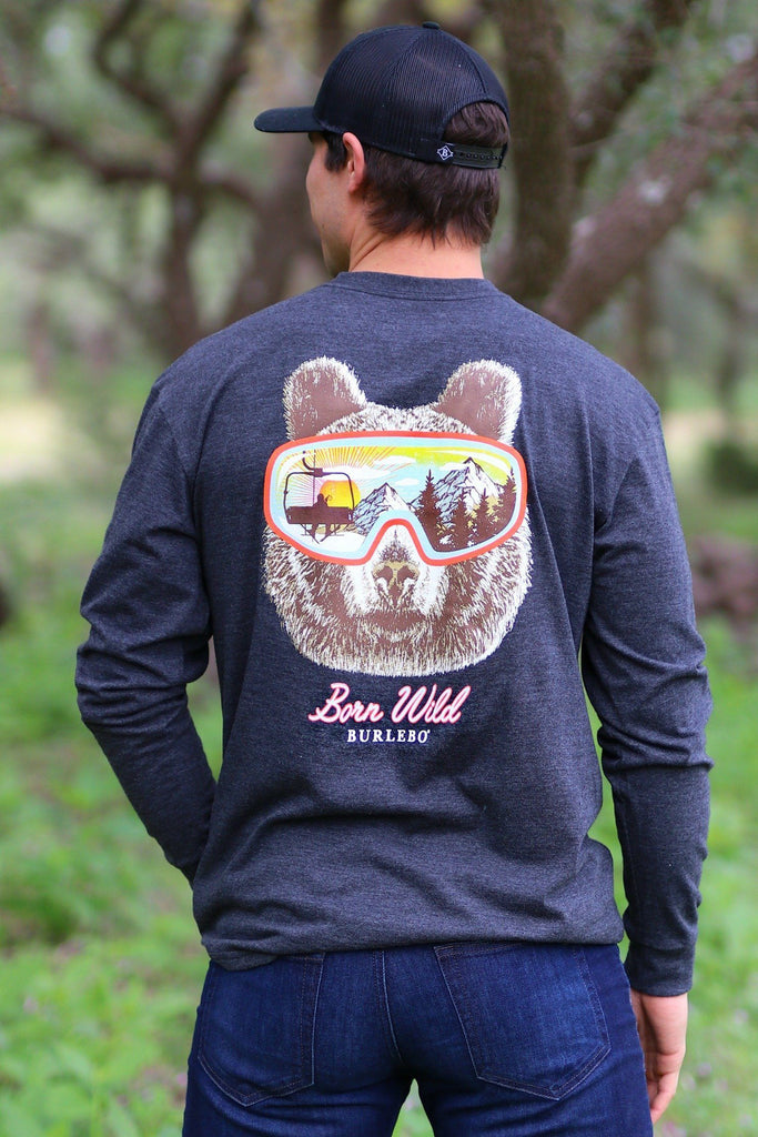 BURLEBO LONG SLEEVE BORN WILD TEE