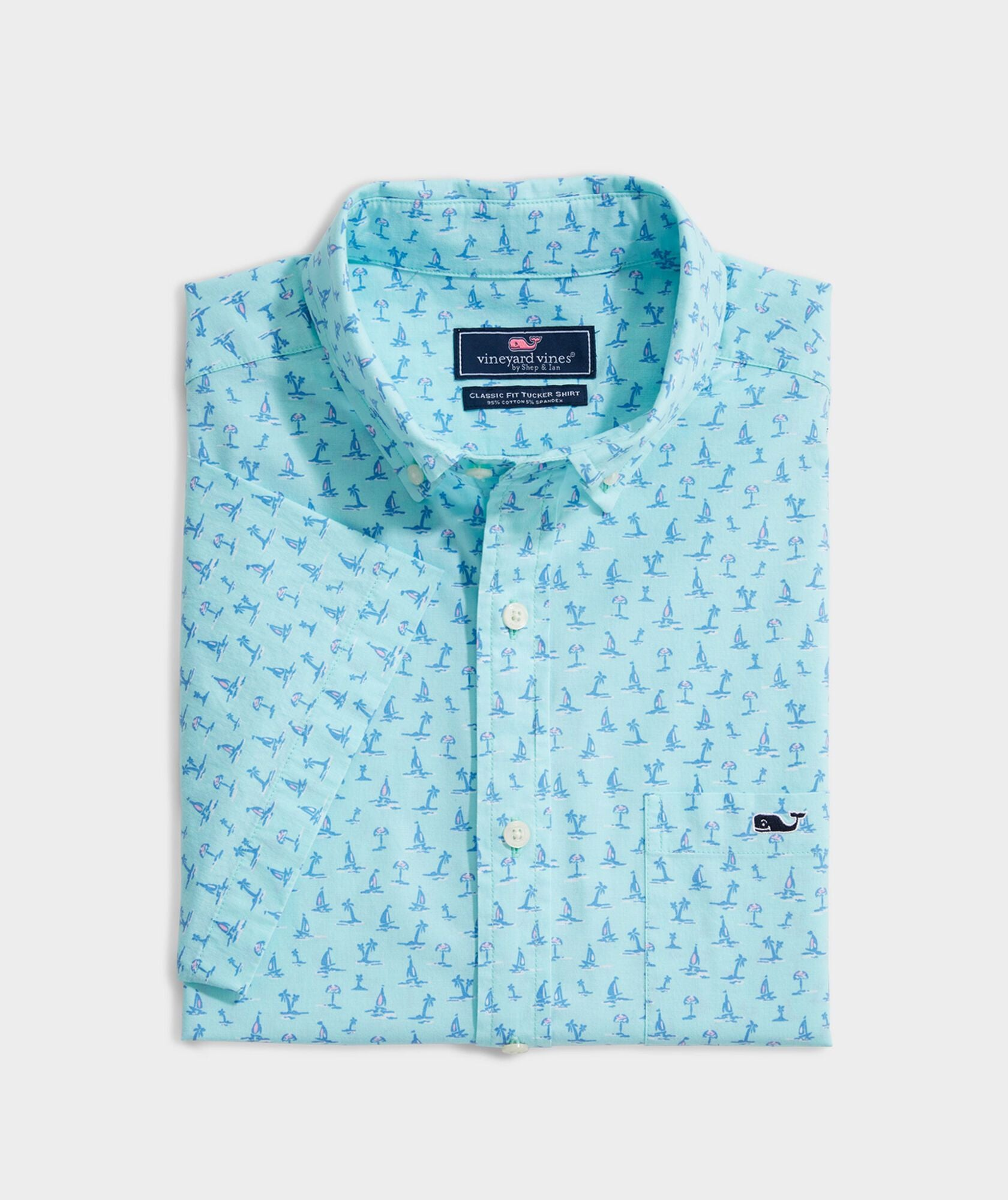 Fan Palm Ss Classic Tucker Short Sleeve Button Down