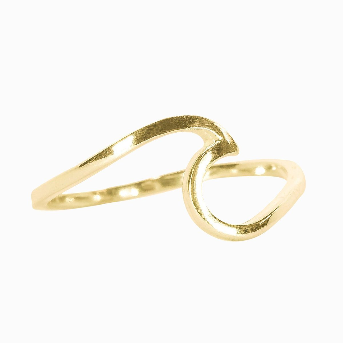 Wave Ring Gold Size 8