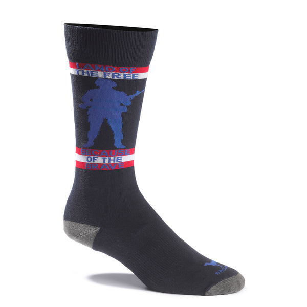 Land Of The Free Navy Sock