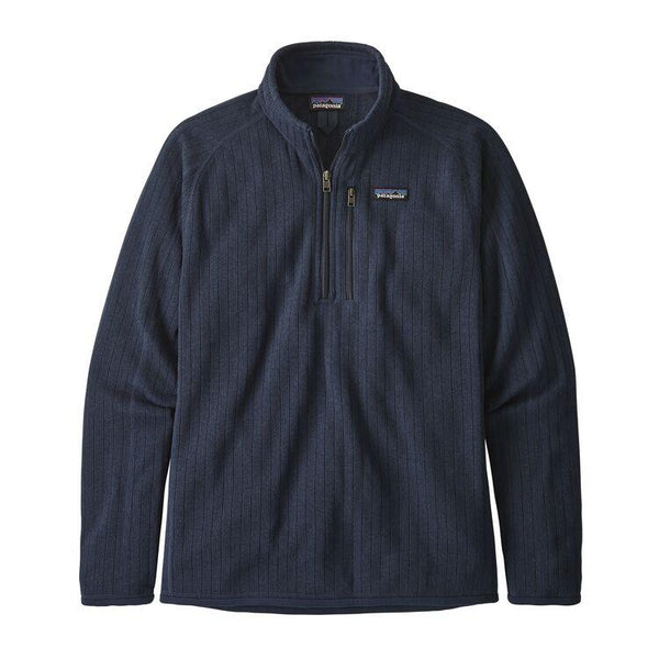 PATAGONIA MEN'S BETTER SWEATER RIB KNIT 1/4 ZIP FLEECE