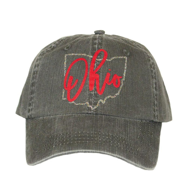 ALABAMA GIRL STATE LOGO GRAY BASEBALL HAT