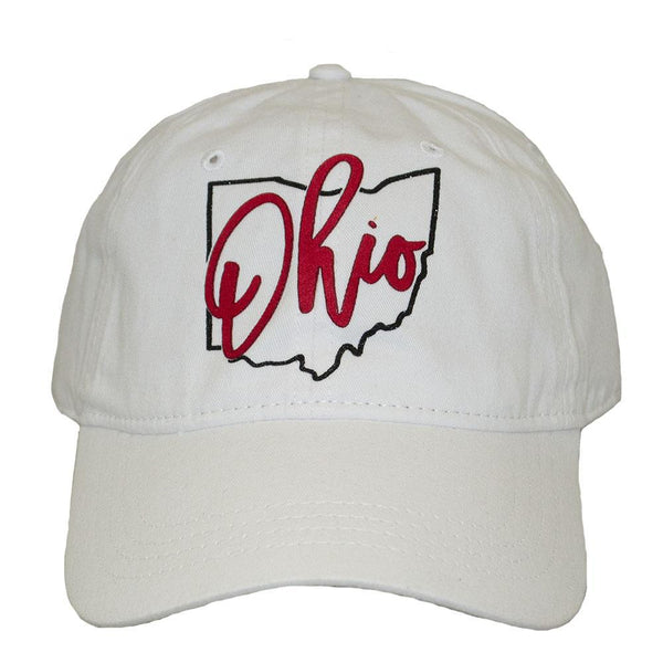 ALABAMA GIRL STATE LOGO WHITE BASEBALL HAT