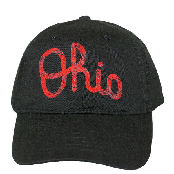 ALABAMA GIRL OHIO SCRIPT BLACK BASEBALL HAT