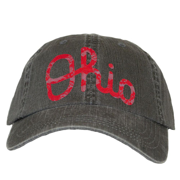 ALABAMA GIRL OHIO SCRIPT GREY BASEBALL HAT