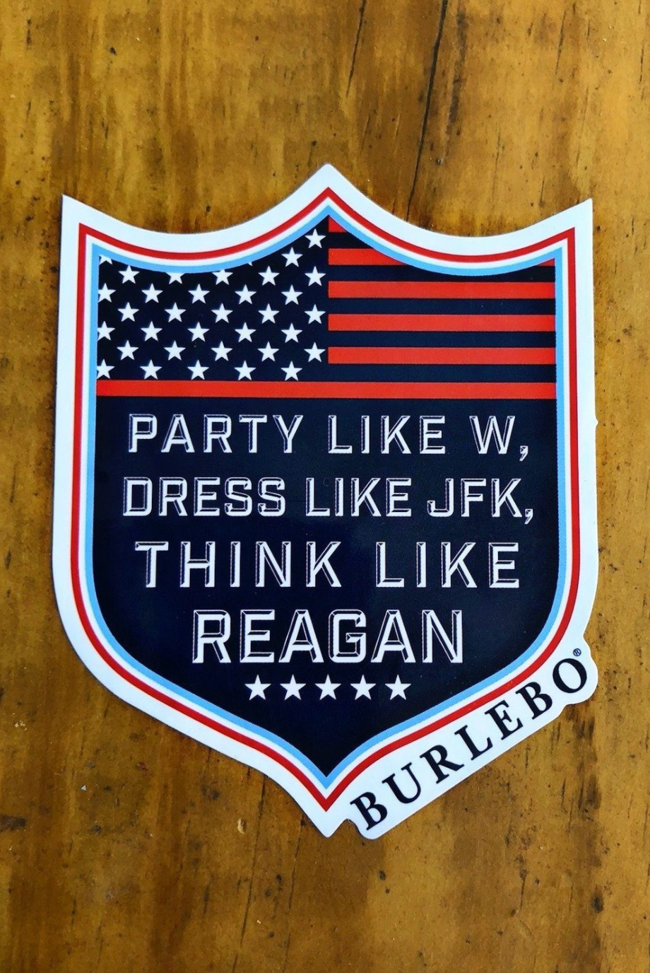 burlebo party like w decal sticker