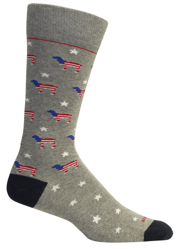 Red White & Beau Light Grey Heather Socks
