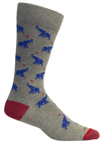 REGAN ELEPHANT SOCKS - BROWN DOG HOSIERY