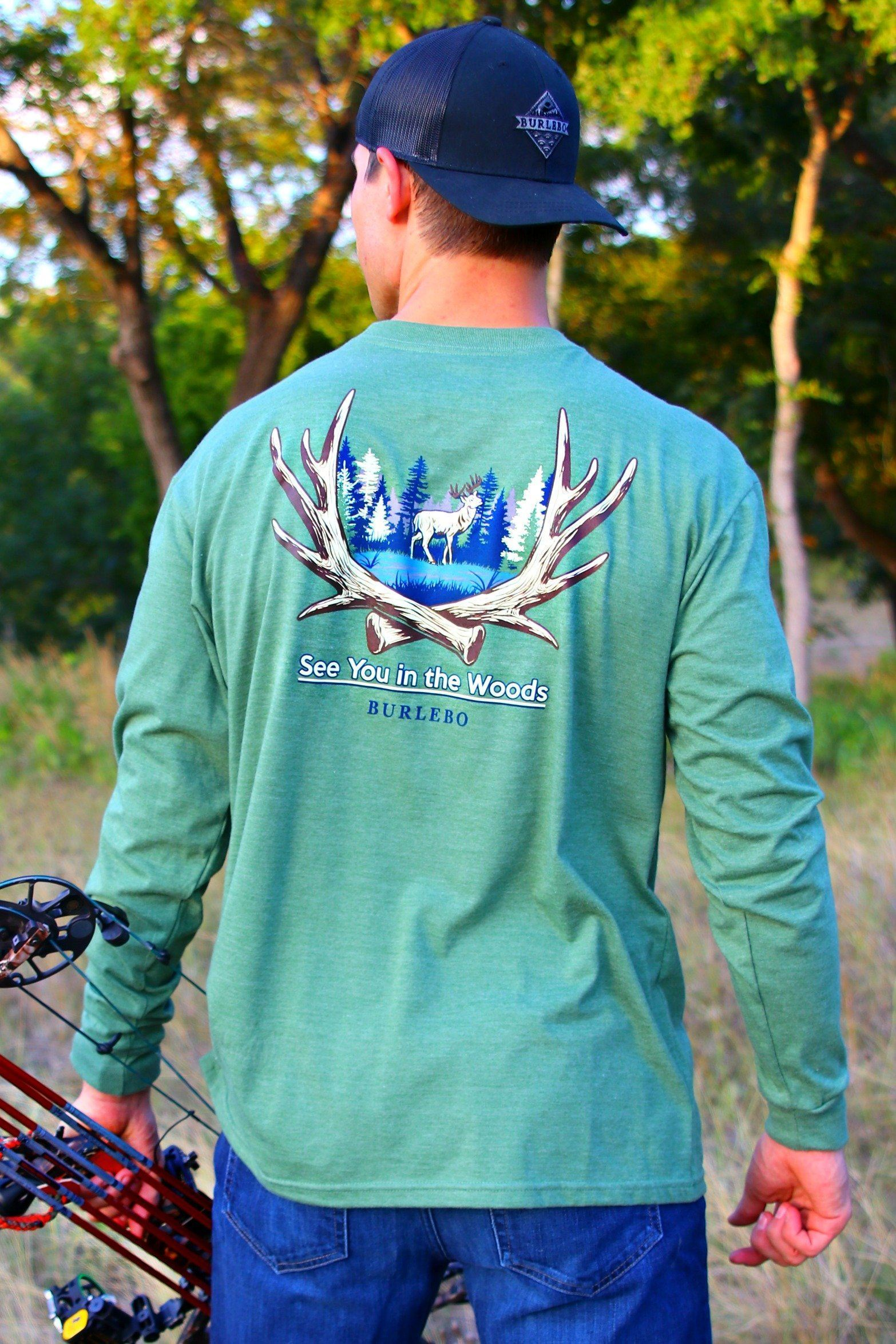 BURLEBO SEE YOU IN THE WOODS LONG SLEEVE T-SHIRT