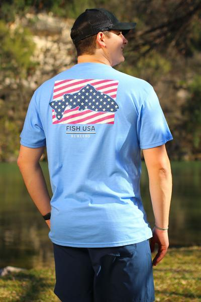 BURLEBO FISH USA T-SHIRT