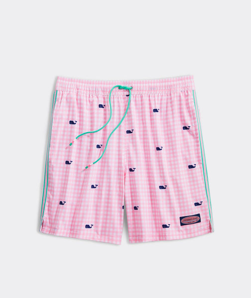 Printed Gingham Chappy Trunks