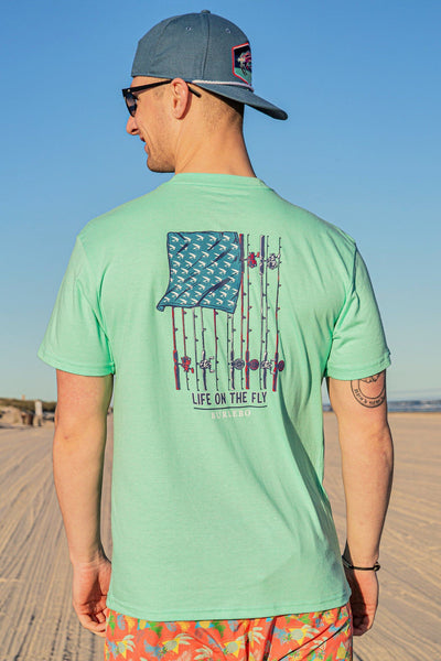 LIFE ON THE FLY SHORT SLEEVE TEE - BURLEBO