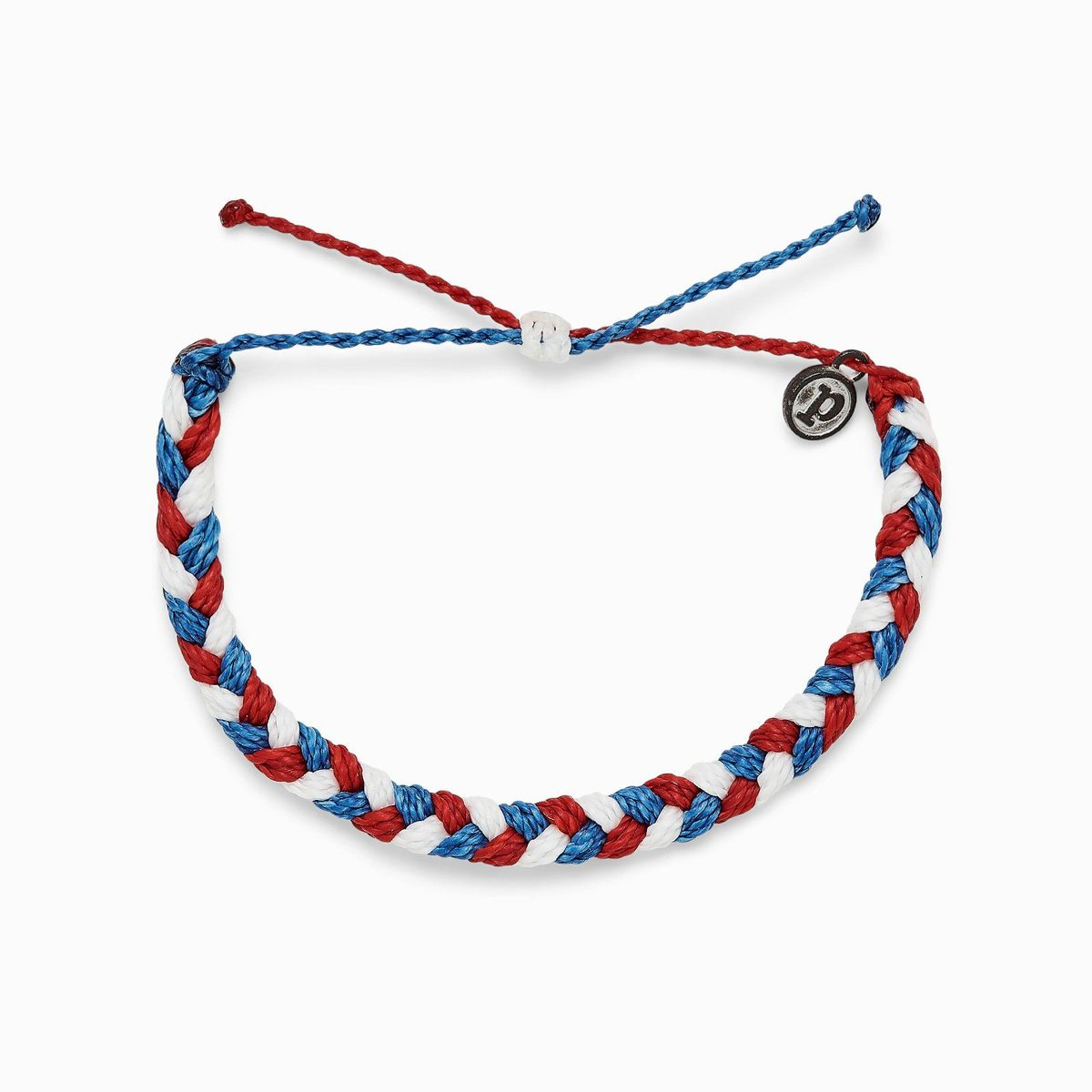 Braided Bracelet Red White And Blue
