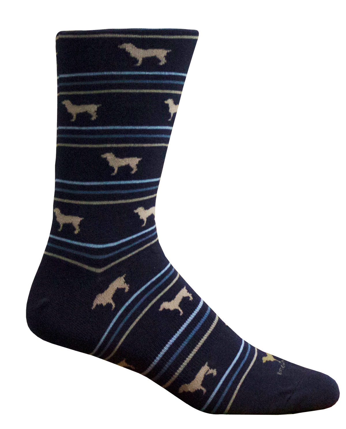 BROWN DOG HOSIERY-BOYKIN STRIPE NAVY SOCK
