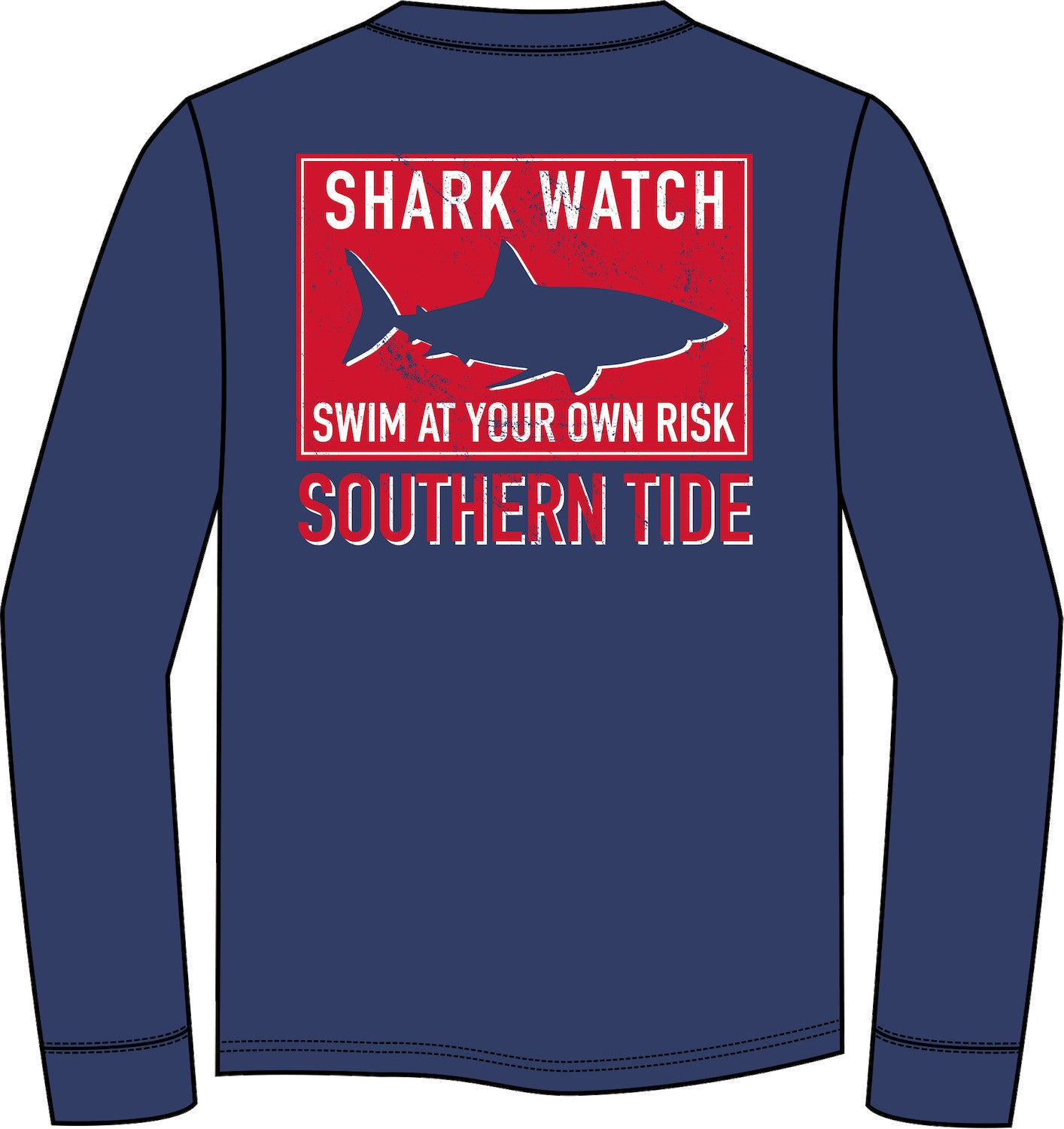 Long Sleeve Shark Flag Tee