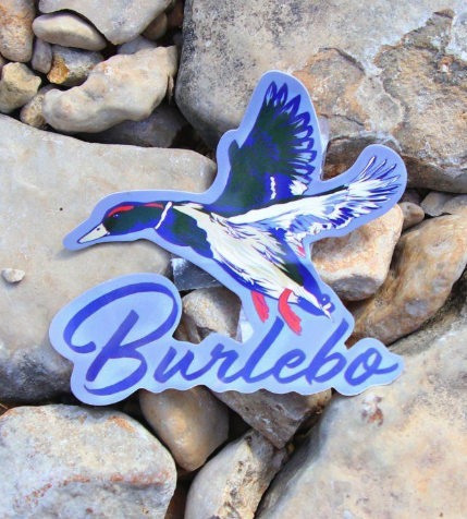 burlebo duck sticker decal