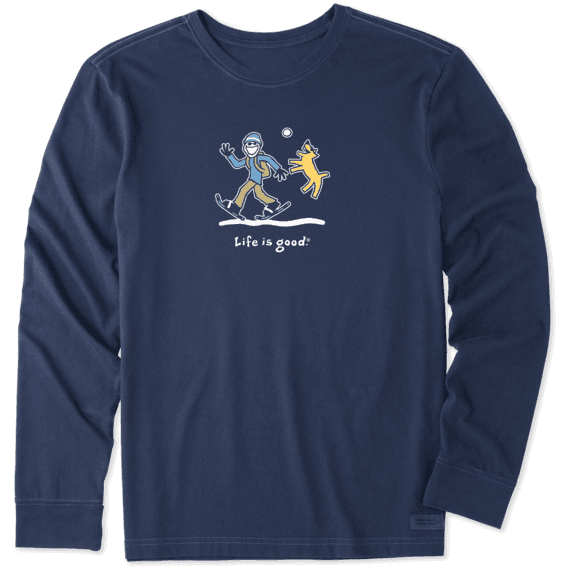Men's Snowshoe Walk Long Sleeve Vintage Crusher Tee