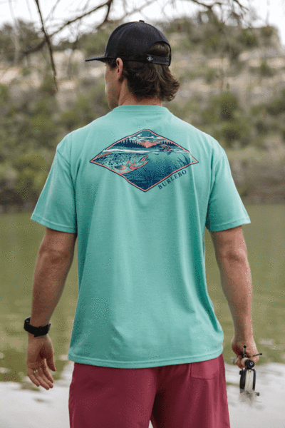 burlebo fish on the fly t-shirt