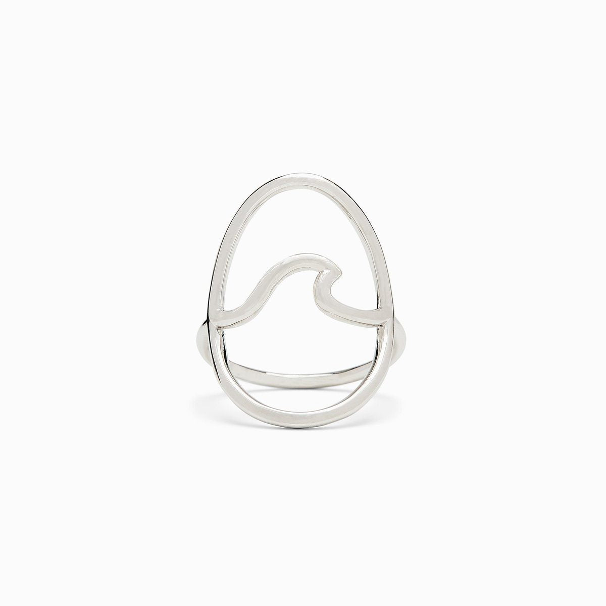 Large Wave Ring Large Wave Silver