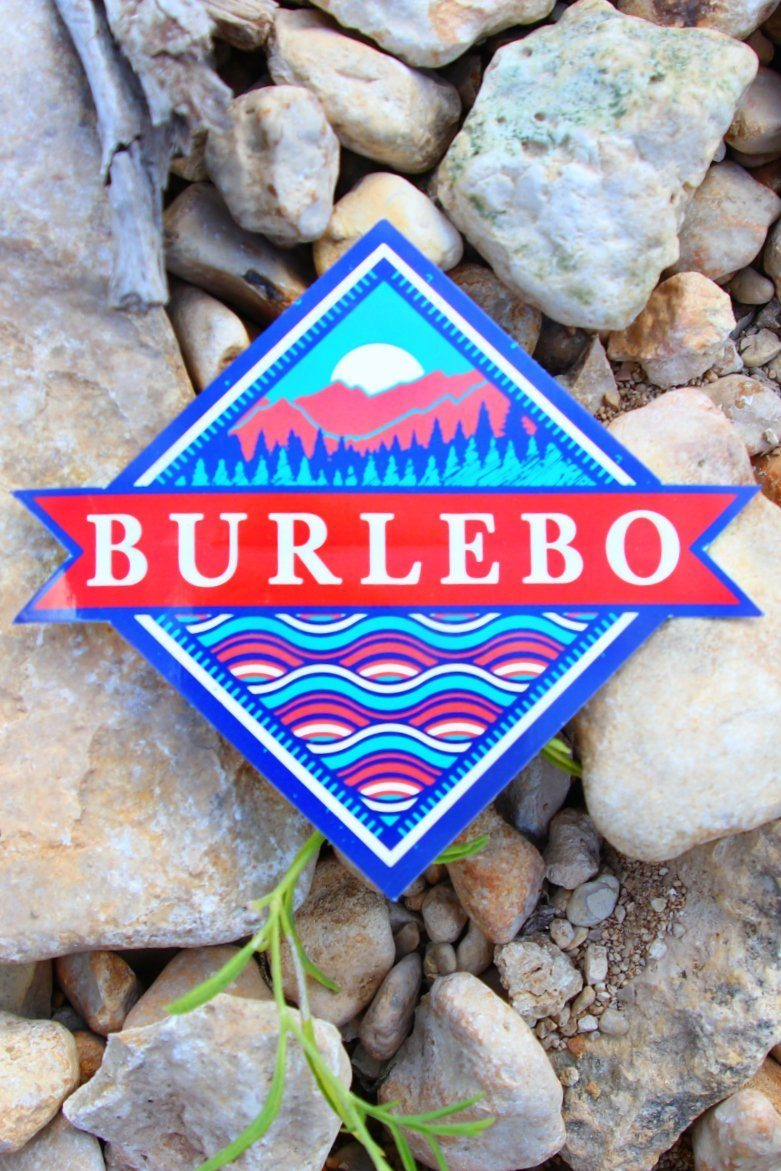 BURLEBO FLAG STICKER