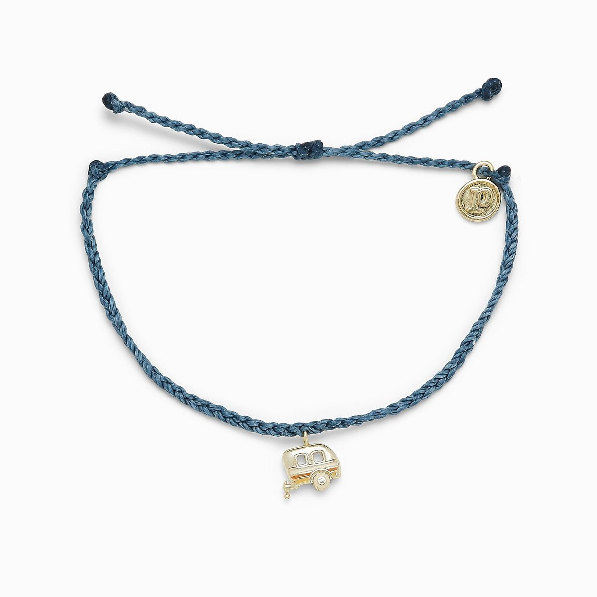 Dusty Blue  On The Road Gold Bracelet