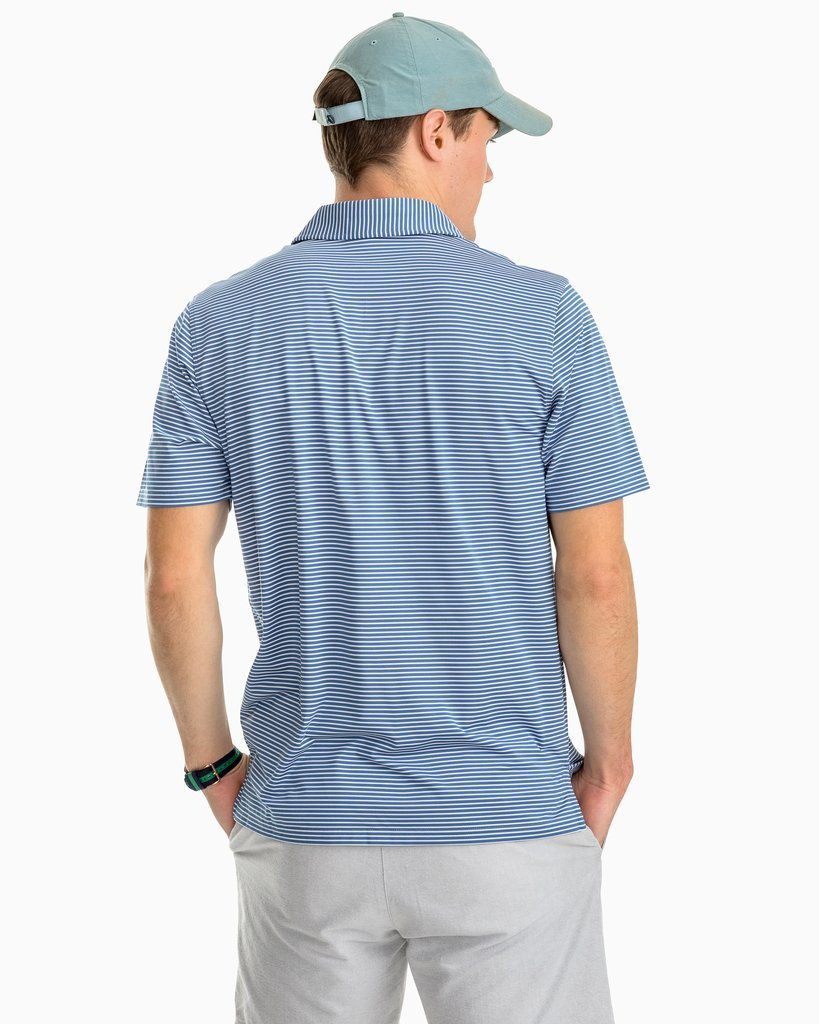 Tryall Stripe Performance Polo