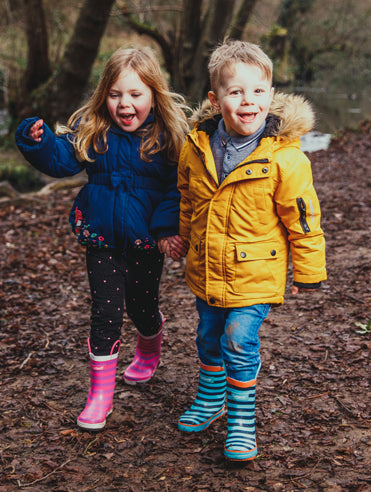 Kids love to explore and get dirty so we embrace that and make kids shoes to stand up to all their adventures.