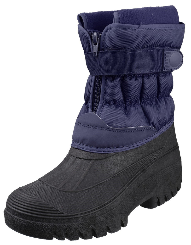 Chase Touch Fastening and Zip up Winter Boot Navy