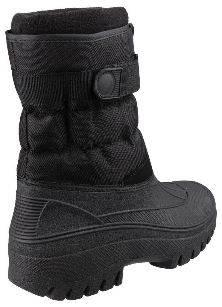 Chase Touch Fastening and Zip up Winter Boot Black