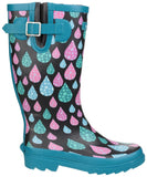 Burghley Waterproof Pull On Wellington Boot Raindrop
