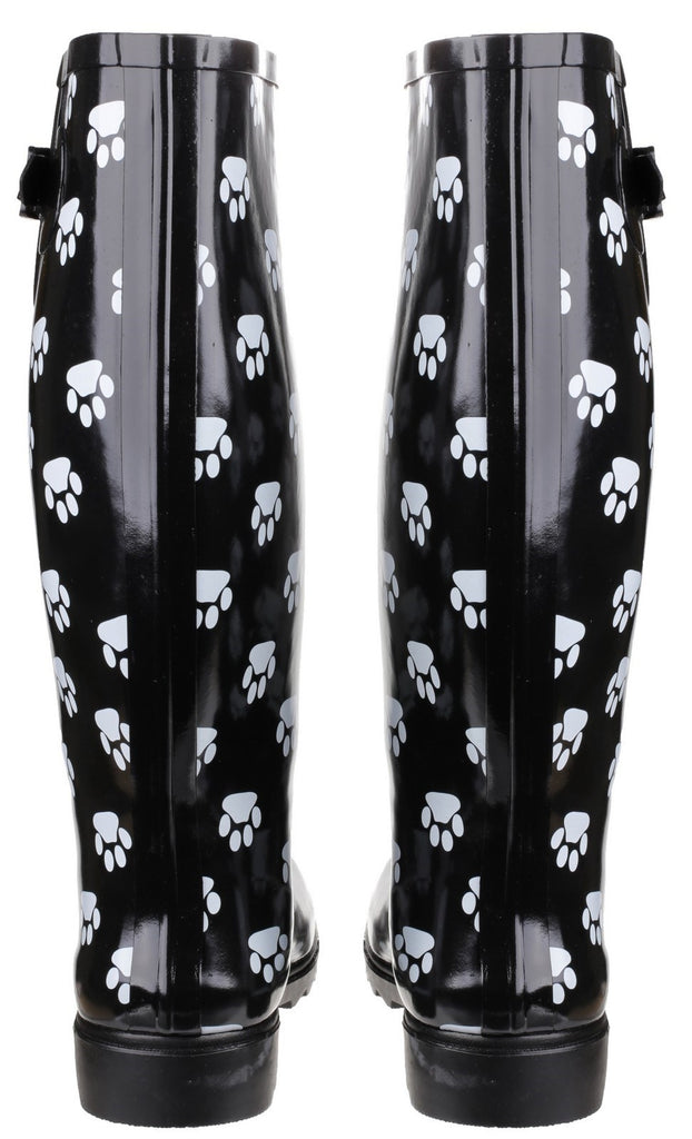 Dog Paw Wellington Black/White