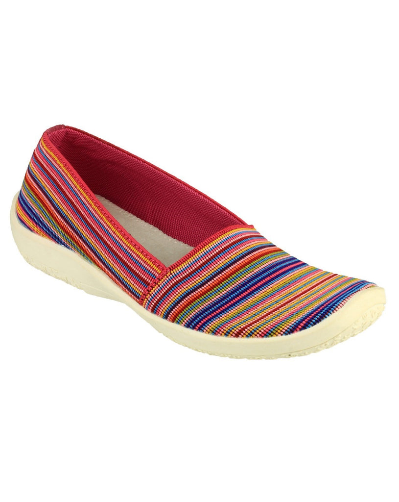 Broadwell Slip On Casual Summer Shoe Multi/Fuchsia
