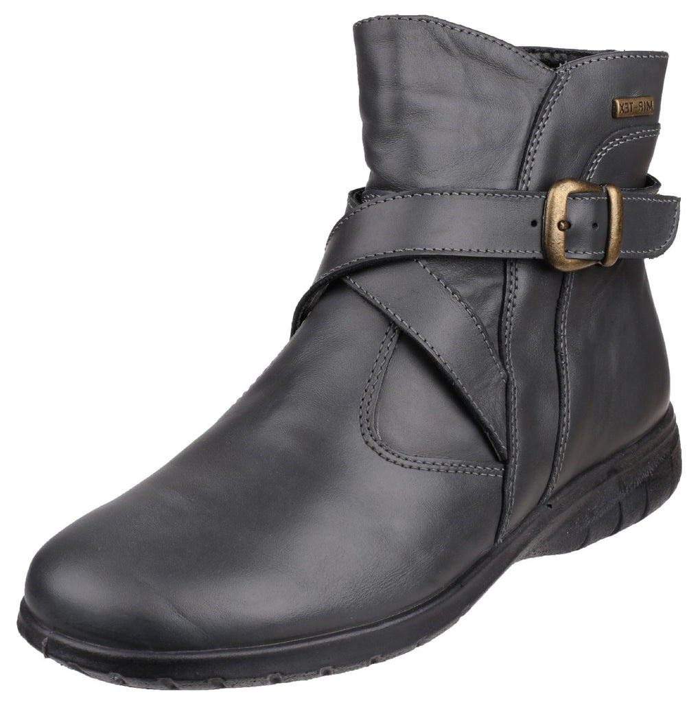 Shipton Leather Ankle Boot Grey