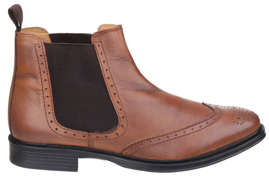 Nettleton Mens Slip On Boots Tan