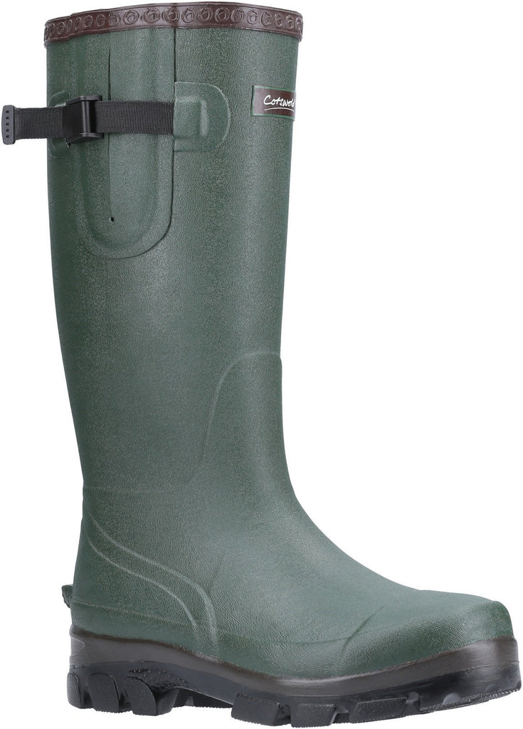 Grange Buckle Fastening Wellington Boot Green