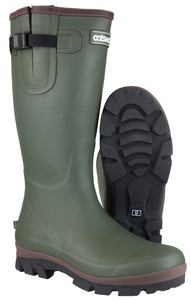 Green Grange Buckle Fastening Wellington Boot