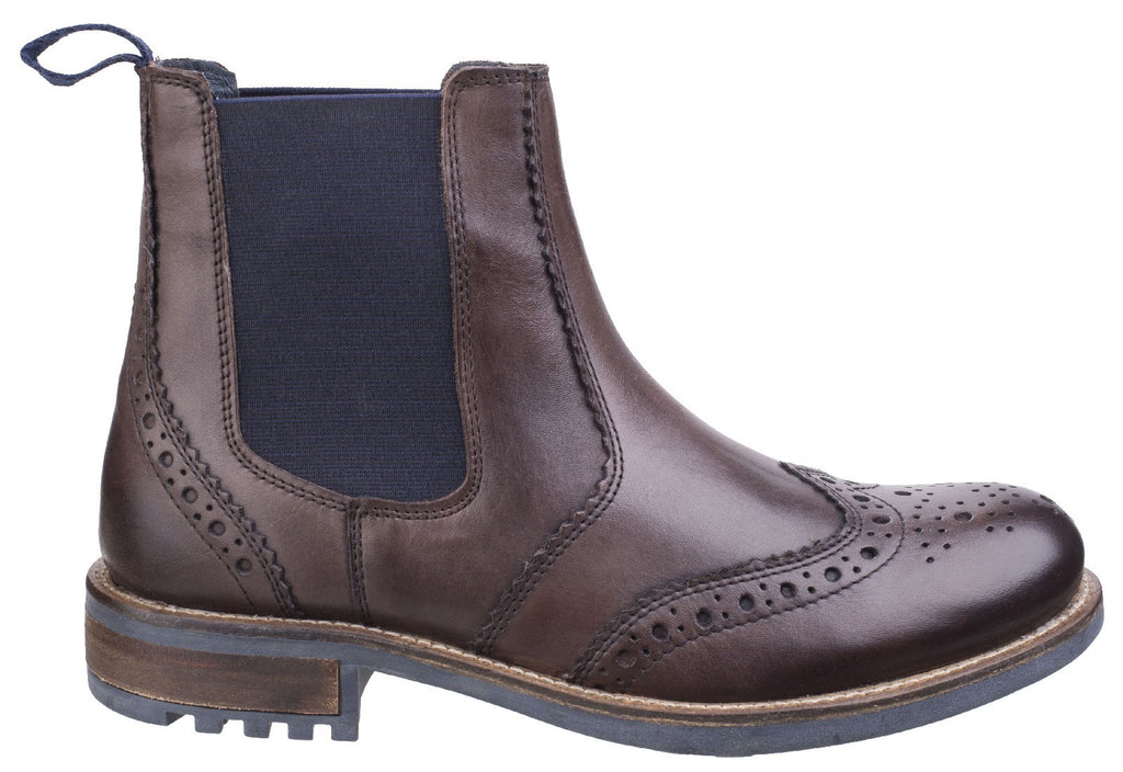 Cirencester Chelsea Brogue Brown