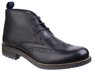 Black Avening Brogue Chukka Boot