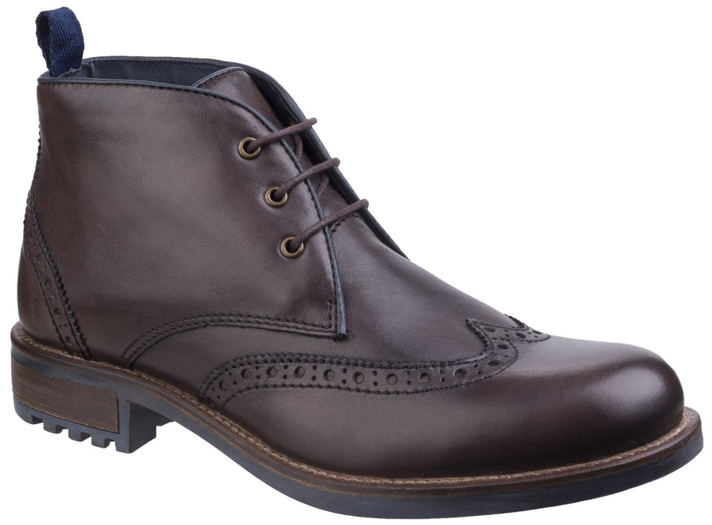 Avening Brogue Chukka Boot Brown