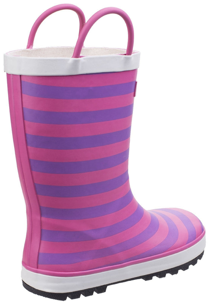 Captain Stripy Wellies Pink